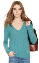Polo Ralph Lauren Cable-Knit V-Neck Sweater