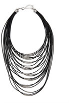 Fragments for Neiman Marcus Multi-Strand Cord Statement Necklace, Black