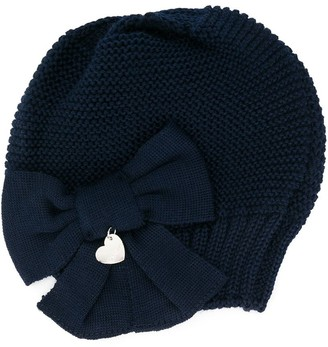 MonnaLisa Bow Front Knitted Hat