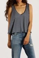 Azalea Striped High Low Tank Top