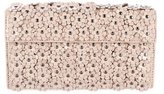 Alaia Floral-Embellished Leather Clutch w/ Tags