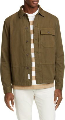 Closed Button-Up Army Shirt