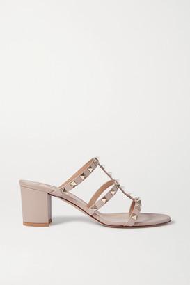 Valentino Garavani 60 Rockstud Leather Sandals - Neutral