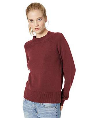 Daily Ritual Women's 100% Cotton Mock-Neck Sweater,X-Large