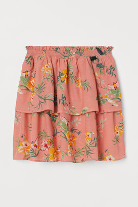 H&M Short Ruffled Skirt - Orange