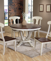Baxton Studio Napoleon Shabby Chic Country Cottage Five-Piece Dining Room Set