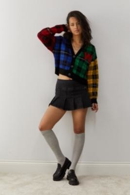 Urban Outfitters Jacquard Knit Varsity Cardigan - Assorted XS at