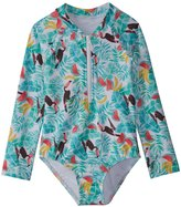 Seafolly Toddler Girls' Touci Frutti Long Sleeve Surf Tank One Piece Swimsuit (2T7) - 8158927