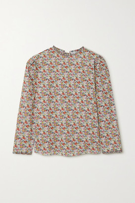 Horror Vacui Betty Floral-print Cotton Blouse - Red