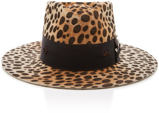 Nick Fouquet Lynx Printed Ribbon-Trimmed Felt Hat