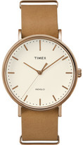 Timex Weekender Tfairfield 41mm Tan Leather Strap
