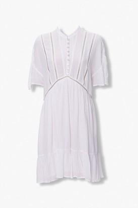 Forever 21 Ladder-Trim Mini Dress