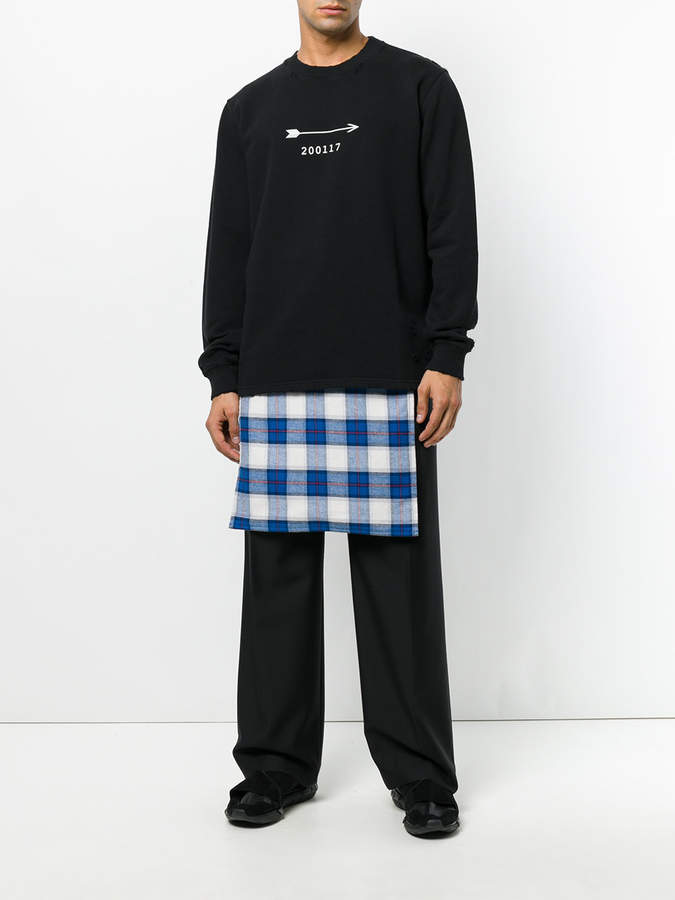 Givenchy plaid wrap-over shorts