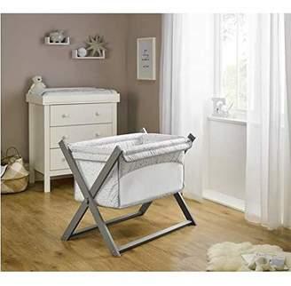 Clair De Lune Stars & Stripes Folding Breathable Crib - Grey