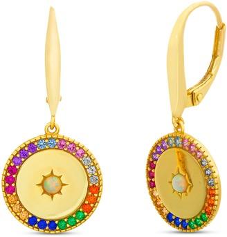 Multicolor Disc Earrings