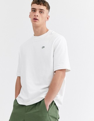 Lacoste L!VE boxy fit t-shirt in white