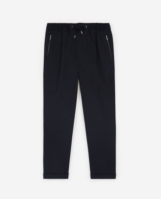 The Kooples Navy blue cotton trousers with stretch waist