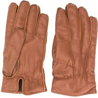 Ermenegildo Zegna Cashmere-Lined Leather Gloves