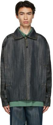 Issey Miyake Black Denim Flat Jacket