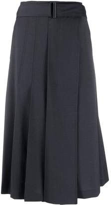 Low Classic belted pleated skirt