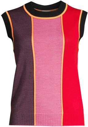 Escada Sport Colorblock Wool Shell