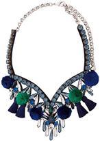 Shourouk pompom embellished necklace