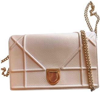 Christian Dior Diorama Pink Leather Handbags