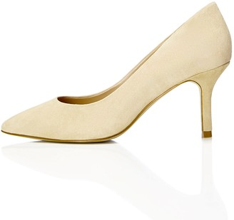 Find. Women's Court Shoe Heels in Suede with Pointed Closed-Toe