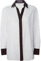 Ungaro polka dot contrast trim shirt