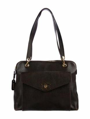Chanel Vintage Caviar CC Shoulder Bag gold