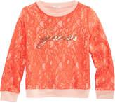 GUESS Lace Logo Sweatshirt, Big Girls