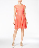 Jessica Simpson Open-Back Lace Fit & Flare Dress