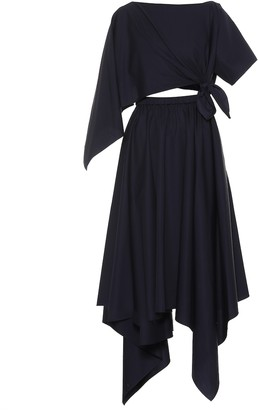 Rosie Assoulin Asymmetrical cotton midi dress