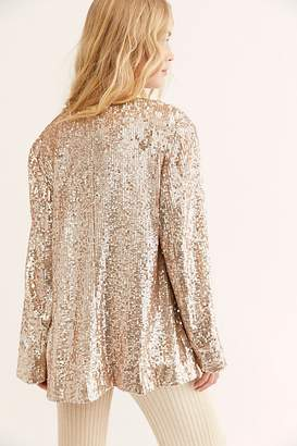 Free People Sequin Blazer by Ranna Gill at Free People, Light Gold, XS