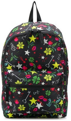 Liu Jo Star-Print Zipped Backpack