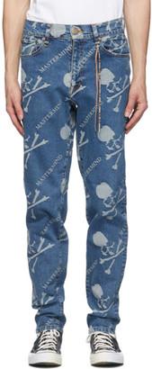 Mastermind Japan Blue Monogram Water-Repellent Jeans