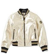 MICHAEL Michael Kors Big Girls 7-16 Faux-Leather Bomber Jacket