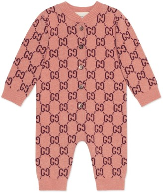 Gucci Baby GG wool one-piece