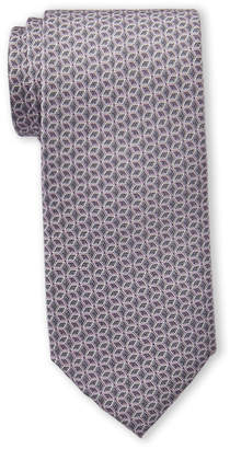Michael Kors Grey Outlined Cube Silk Tie