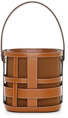STAUD Brody Woven Leather Bucket Bag
