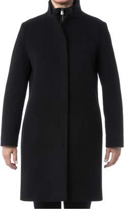 Cinzia Rocca Icons Notch Collar Wool Cashmere Walking Coat