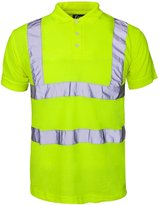 BSeen Mens Hi Visibility Work Wear Safety Reflective Polo T-Shirt