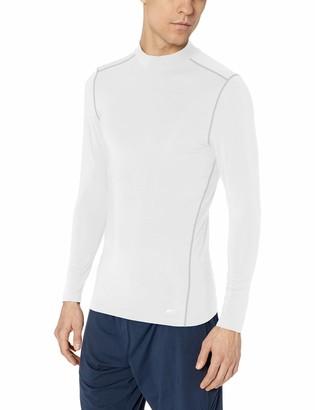 Amazon Essentials Men's Control Tech Mock Neck Long-Sleeve Shirt