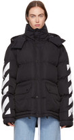 Off-White Black Down Brushed Diagonal Jacket