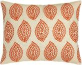 "Trina Turk Catalina Paisley Pillow with Orange Embroidery, 14"" x 18"""