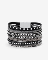 White House Black Market Leather Multi-Row Bracelet