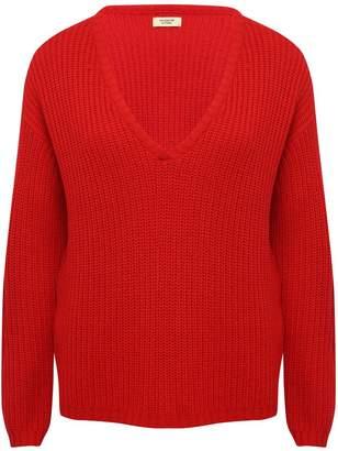 M&Co JDY v-neck rib knit jumper