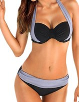 Ninimour Womens Halter Bandage Cut Swimsuit Swimwear Bikini Set