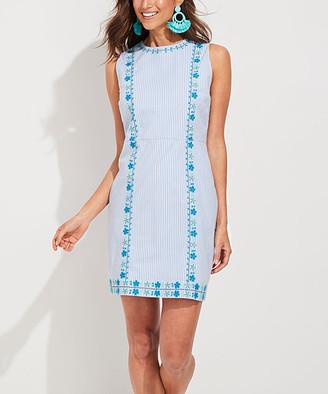 Vineyard Vines Women's Casual Dresses 2208 - Hydrangea Pop Embroidered Shift Dress - Women