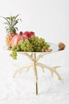 Anthropologie Gilded Feather Pedestal Bowl